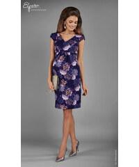 029360dd371d Elpasa Fialové elegantné tehotenské šaty HORTENSJA