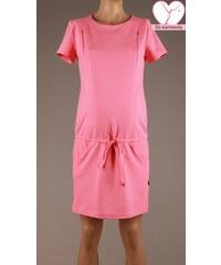 Branco Koralové úpletové šaty s krátkym rukávom BR4355 bc9c77261e