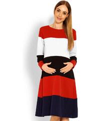 e176315f393e Peekaboo Pruhované tehotenské áčkové šaty PKB1641C
