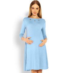 9108b0ea701f Peekaboo Svetlomodré tehotenské áčkové šaty s výstirhom na chrbte PKB1631C
