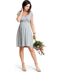 d1d2f159d83d Happymum Tehotenské šaty Kiss kiss grey dress d851d