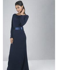 Tmavě modré dlouhé šaty Chi Chi London Valedina c3b1625ad1