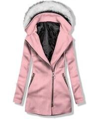 Růžové dámské kabáty s kapucí - Glami.cz f5ca32d797d