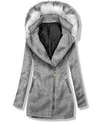 Jesenné Dámske kabáty s kapucňou  3a7d2526f20