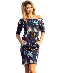 Šaty dámské Numoco 13 91 flowers + dark blue b75ce842cd