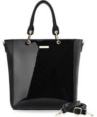 Dámská kabelka monnari velká shopper lakovaný panel - černá d9da9982e1c