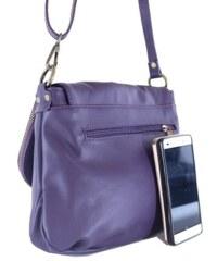 89e725851f3 TALIANSKE Talianska stredná kožená kabelka crossbody fialová Angela