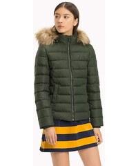 ba55eecc95 Tommy Hilfiger dámská zelená péřová bunda Essential