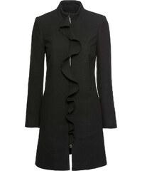 Bonprix Vlnený kabát s volánmi 03414ce0590