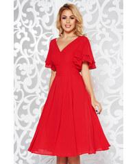 StarShinerS Piros alkalmi harang ruha fátyol belső béléssel v-dekoltázzsal 91ddd2a338