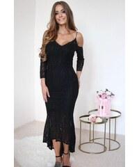 ZAZZA Čierne čipkované spoločenské šaty cbf0a9bb623