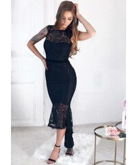 ZAZZA Čierne čipkované spoločenské šaty bez rukávov 5fc3d235ceb