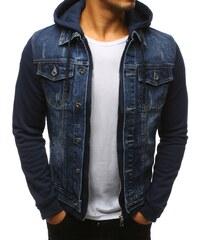 Bunda pánska džínsová modrá 26f1e7230e6