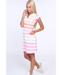 974bd24c0d0d Barevné pruhované šaty Fasardi s límečkem