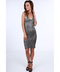 e4bad2cd1fac Fasardi Černé metalízové šaty 3970