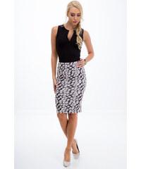 6cf7d09e8ce6 Fasardi Dámská černá sukně s bílým vzorem
