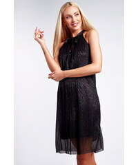 55bf724769b8 Fasardi Černé lesklé šaty 9483
