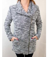 Made in Italy Dámský kabát s křivým zipem XXL 99d36cef859