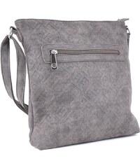 8d1cfaa535c9 Tapple Tmavě šedá stylová dámská crossbody kabelka s ornamenty Haimel