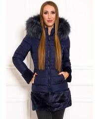 Női téli kabát Due Linee - Sötétkék 926f022745
