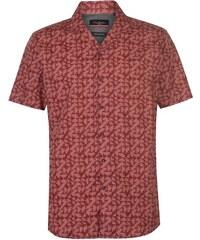 ac4102b1d8fe Pierre Cardin Reverse Geometric Print Short Sleeve Shirt pánské Red