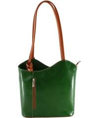 f59f3fbbae Zelená kožená kabelka Chicca Borse Phoebe