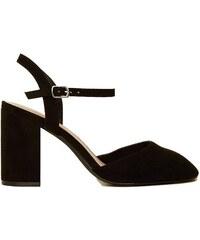 NEW LOOK Semišové sandály na širokém podpatku ad25e6dc67