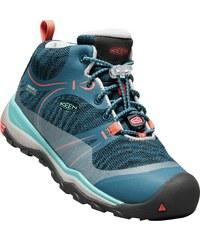 32a32886c107a Keen Dievčenské outdoorové topánky Terradora Mid WP Jr aqua sea / coral -  ružové