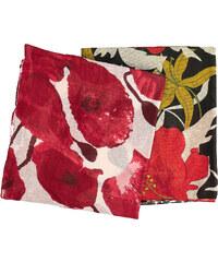 Baťa Dámské šátky s rudými květy ff00d5e0a9