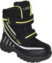1fa904edc0 LOAP Chlapčenské zimné topánky Sillo - čierno-zelené