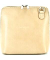 Dámská malá kožená kabelka crossbody Arteddy - světle béžová 34dcd049929