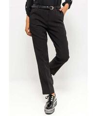 Rouzit Elegantné čierne dámske nohavice s opaskom - Glami.sk 836cbd3f591