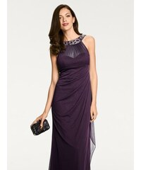 heine TIMELESS Večerné šaty s aplikáciami slivková d2ce447b109