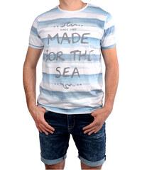 12370154fa9b Cars Jeans Pánské bílé tričko s potiskem Salty White 4046723