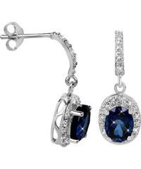 Brilio Silver Překrásné náušnice pro ženy 436 154 00235 04 - modré - 2 65cc4b1dffe
