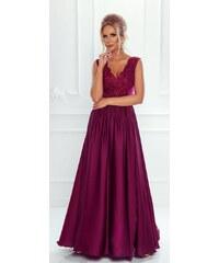 Vínové maturitní šaty s dopravou zdarma - Glami.cz 9ff3160492