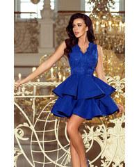 1235bcaafdf3 NUMOCO Luxusné modré šaty CHARLOTTE 200-7