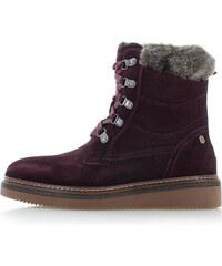 Carmela Bordové kožené topánky 66415 8217de0340f