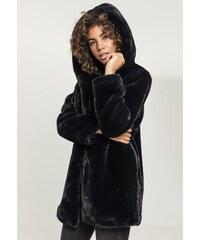 aa6c574c537 Urban Classics Ladies Hooded Teddy Coat black