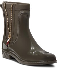 Holínky TOMMY HILFIGER - Material Mix Rain Bo FW0FW03562 Military 302 9329ed6be2