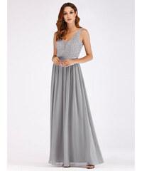 bc22baaaff2 Dlouhé šedé šaty Ever Pretty 7516