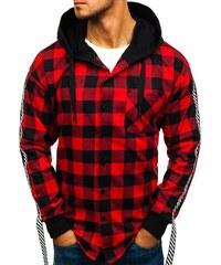 Červená pánská flanelová košile s dlouhým rukávem Bolf 7459 8ca2499546