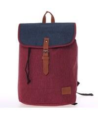 be2baf6a622 Elegantní látkový červeno modrý batoh - New Rebels Morpheus červená