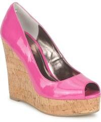 Růžové dámské sandály na platformě - Glami.cz 33d406742a