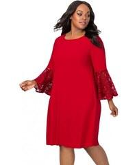 30e45a905ecf Spoločenské červené swingové šaty pre moletky LC610475-3