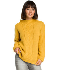 Be Knit Dámský svetr BK003 žlutá 21b585b22c
