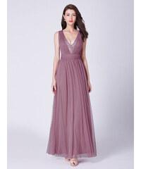 Ever-Pretty Vzdušné večerní šaty s hlubokým výstřihem 9f6f71ccaf8