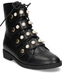 Baťa Vysoká členková obuv s perličkami 4358751e79e