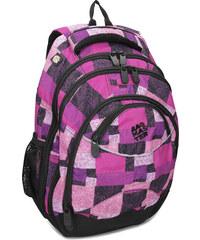 Bagmaster Dívčí školní batoh fialovo-růžový c55700e0cf