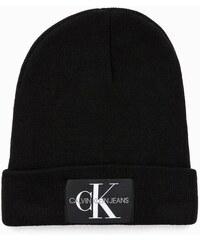 8f9778e7a84 Calvin Klein černá unisex čepice J Basic Knitted